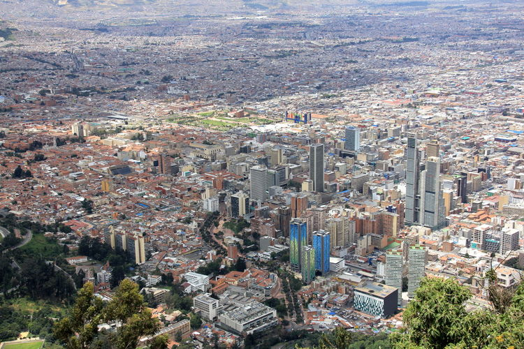 Bogotá Colombia Montserrat Panorama Aerial View Architecture Building Building Exterior Built Structure City City Life Cityscape Crowd Crowded Day High Angle View Nature Office Building Exterior Outdoors Plant Residential District Skyscraper TOWNSCAPE Tree Urban Sprawl