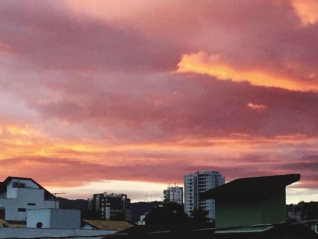 Sunset Sky City Romantic Sky Dusk Cloud