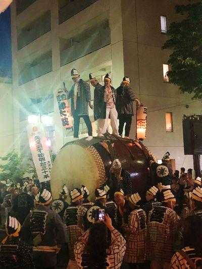 大太鼓。大迫力でビックリ OokunitamaJinja Japanese Traditional Fuchu-shi Group Of People Human Representation