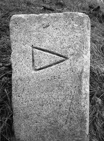 Stone Marker Black & White