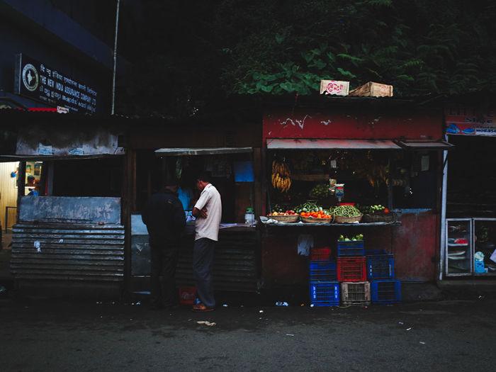 Men working at market