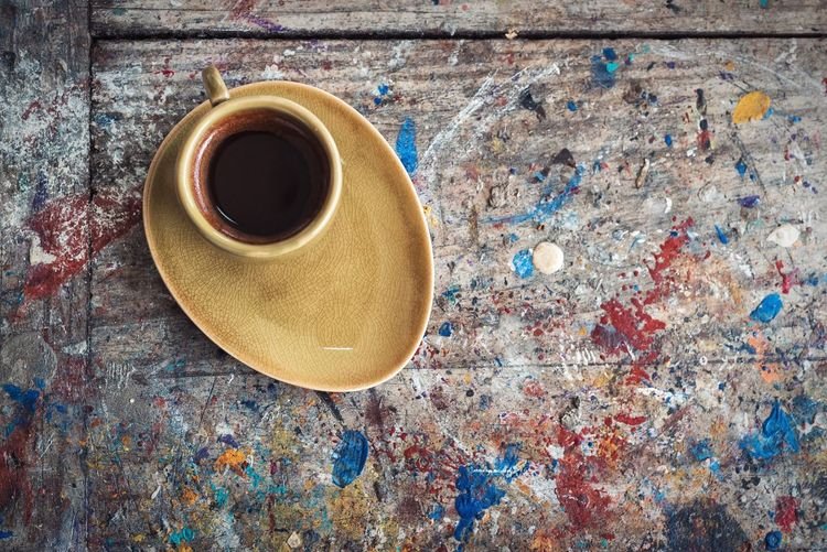 Coffee Painting No People Table Close-up Day Outdoors Food And Drink StillLife Coffee Time Coffee Break Healthy