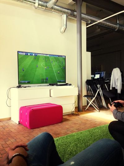 This is what the boys does at lunch breaks:) At Work Xbox Fun Fifa14