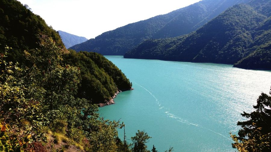 Lake in Svaneti, Georgia Tree Mountain Tranquil Scene Scenics Tranquility Water Beauty In Nature Mountain Range Nature Idyllic Non-urban Scene Remote Growth Sky Outdoors Blue Day No People Solitude Green Color