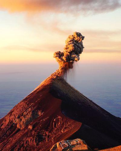 Majestic Active Volcano