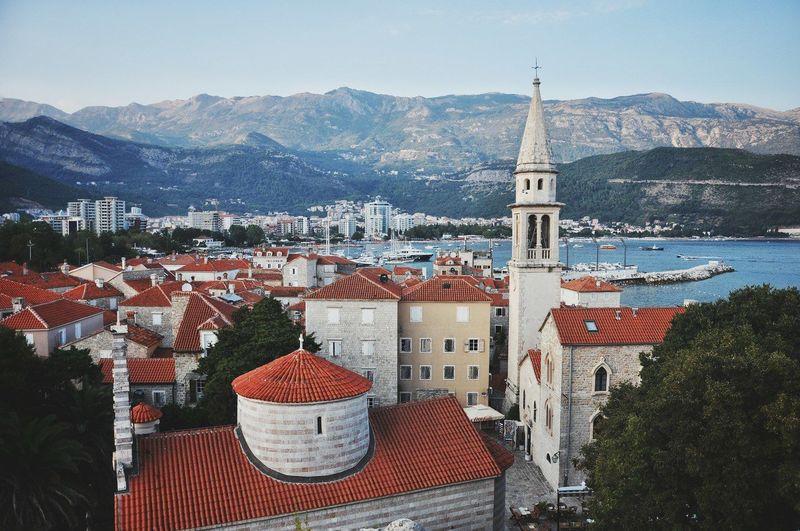 Sveti Ivan Church By Sea Against Mountains