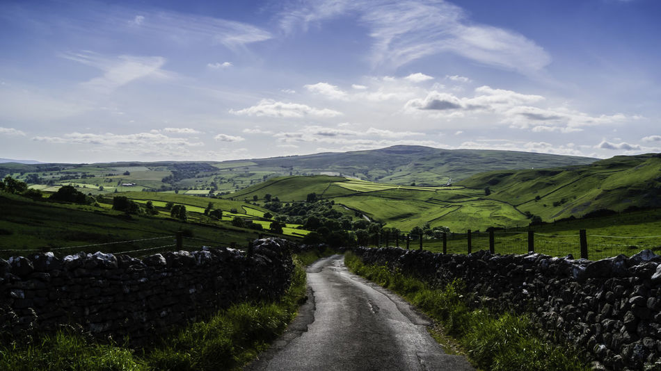 Malham, North Yorkshire, UK Beauty In Nature Cloud - Sky Day Landscape Malham Nature No People North Yorkshire Outdoors Road Rural Scene Scenics Sky Winding Road