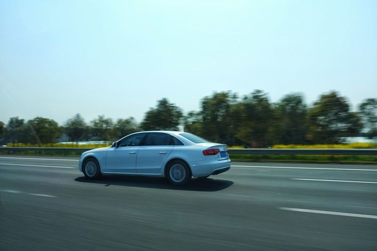 China Photos White Sedan Speed Up In The Car On The Road Taking Photos Light And Shadow Car Travel Wheels Streetphotography Streamzoofamily Need For Speed
