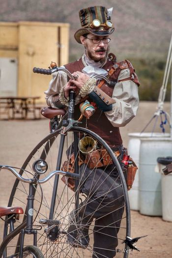 Will Brown aka Lord Towers Willbrown Steampunk Photography Steampunk Style Steampunk Stuff OldTucson Arizona Tucson Steampunk Wildwest Photosbyraven Wildweststeampunkcon Penny-farthing Bicycle
