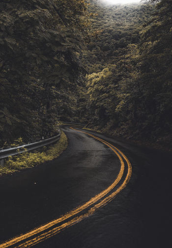 Road Passing Through Mountains