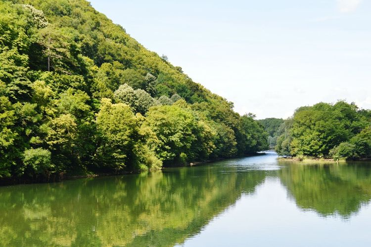 Besançon Tree Water Lake Reflection Nature Green Color Outdoors Scenics Sky Landscape Beauty In Nature No People Day Besancon Franchecomte Doubs
