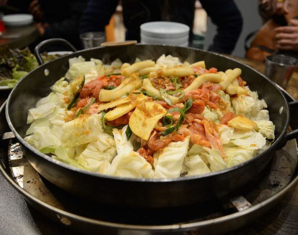 Dak Galbi ASIA Korean Food Close-up Day Food Food And Drink Freshness Healthy Eating Indoors  Ready-to-eat Real People