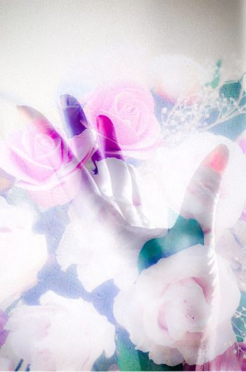 Hand Multiple Exposures Human Finger Human Body Part Flower Background Flowers Colorful Pink Color Close-up People Multi Colored Indoors  Transparent The Creative - 2018 EyeEm Awards Creativity Paint