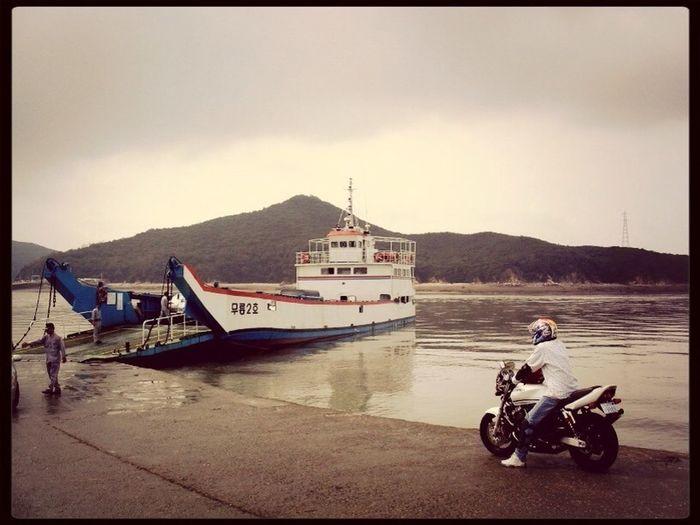 My Motorcycle long long time ago in 영종도 ,Korea