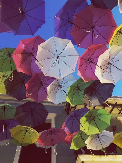 Flying umbrellas Puertoricotourism Puertorico Viejo San Juan Puerto Rico San Juan Sanjuan Umbrella Protection Multi Colored No People Day Security Nature Creativity Sky Full Frame Pattern Outdoors Backgrounds Low Angle View Art And Craft Hanging Large Group Of Objects Decoration Architecture