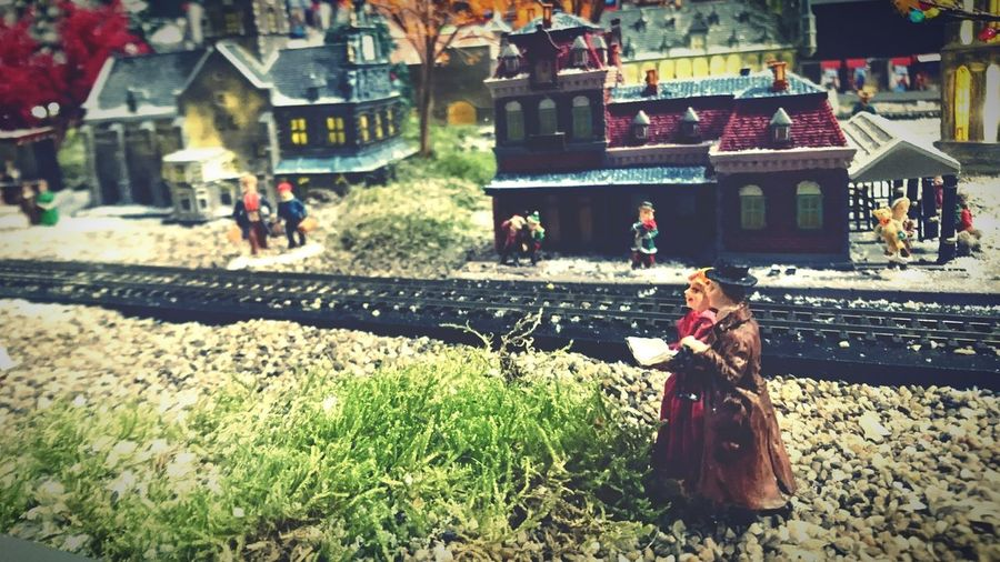 Christmas Village Intratuin Cruquius Haarlem Wintertime Train Station Railwaystation Holland Dutch