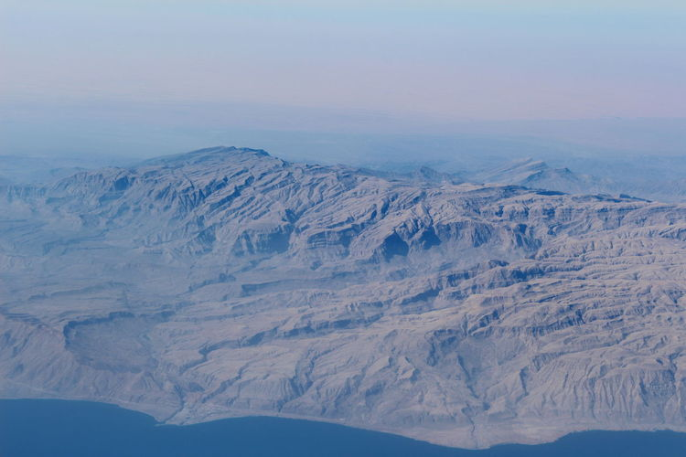 A Bird's Eye View Mountains Sea And Mountains Airplane View Landscape Earth Landscape_Collection