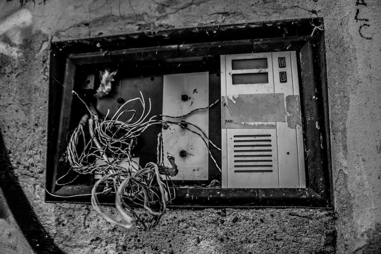 Abandoned Architecture Bad Condition Building Building Exterior Built Structure Damaged Day Decline Deterioration Electricity  House Metal No People Obsolete Old Outdoors Power Supply Ruined Run-down Wall - Building Feature Weathered Window