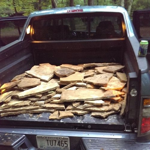 Just got really stoned DIY Stonework Ridgelinehauls Realtruck
