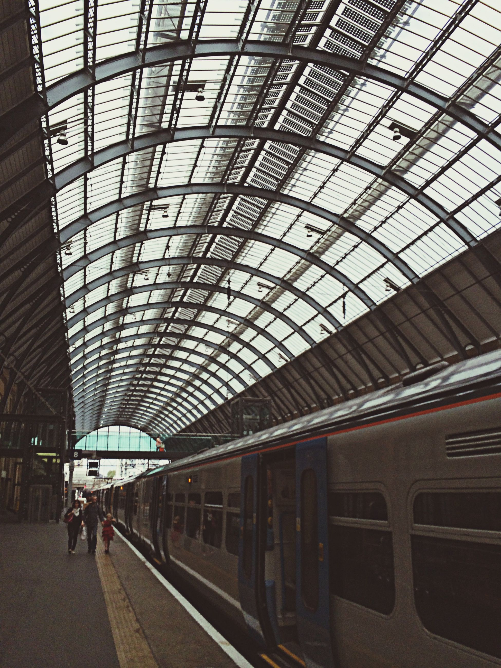 transportation, train - vehicle, railroad station platform, public transportation, rail transportation, railroad station, indoors, passenger train, passenger, ceiling, mode of transport, journey, travel, subway train, men, real people, commuter train, day, people, adult