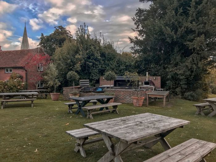 Pub Garden Exploring The Griffin Inn Tree Plant Nature Seat Sky Architecture Cloud - Sky Day Park Grass Table Growth Park - Man Made Space Sunlight Built Structure Bench Outdoors No People Chair Stone