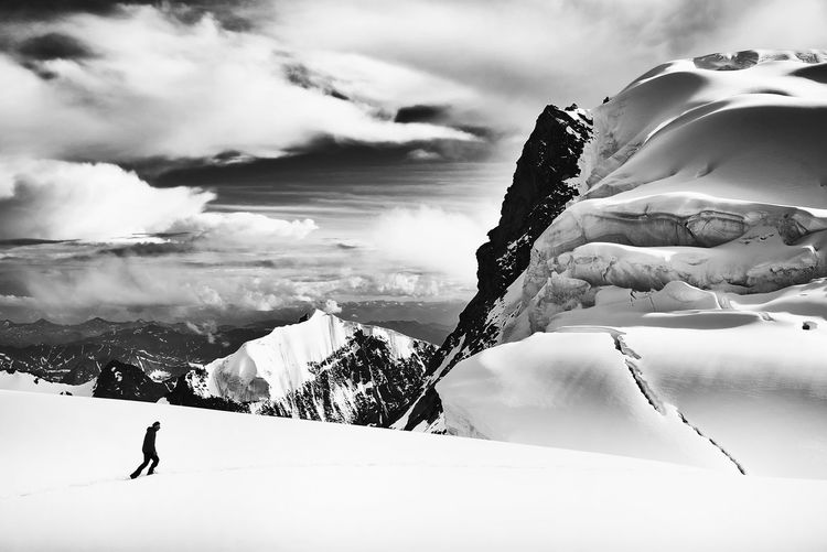 Nikon D750, Nikkor 28-300mm f 3,5-5,6 VR ED Adrenaline Altai Beauty In Nature Belukha Cold Temperature Crevasse Danger Extreme Glacier Landscape Mountain Mountain Range Nature Non-urban Scene Scenics Snow Tranquil Scene Tranquility Weather Winter