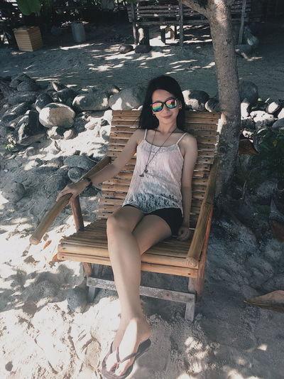 Filipina Summertime Beach Life Itsmorefuninthephilippines Asian  Selfie Portrait