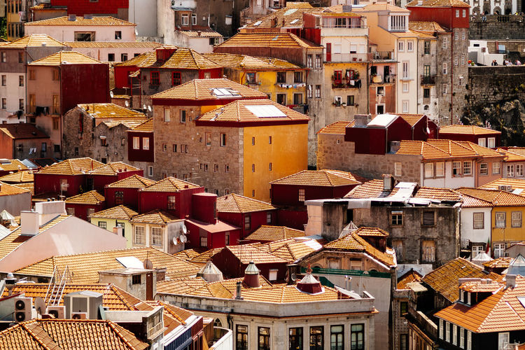 Roofs of Porto Porto Rooftop Architecture Building Exterior Built Structure City Cityscape Crowded Day Fivedaysporto Full Frame Outdoors People Residential Building Roof Rooftile Rooftops Tiled Roof  Town Travel Destinations