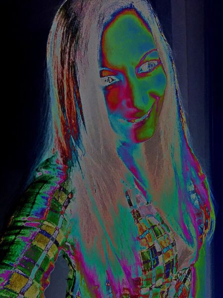 Trippy Glitchy Glitch Self Portrait Color Portrait Colorful OilSlick