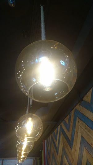 Illuminated Light Bulb Electricity  Hanging Filament Lighting Equipment Close-up