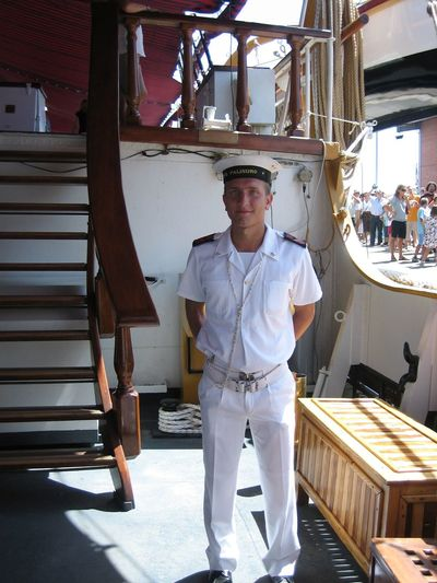 Looks like all men on the ships are from modeling agency, so handsome they are. Alicante, Spain Boatswain Handsome Man Marine Uniform Portrait Sailing Ship Ship Deck Ship Interiors Travel Photography Traveling White White Uniform Working Cloths Young Man Natural Light Portrait People And Places