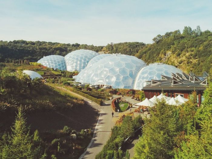 No People Grass Outdoors Sky Nature Day Geodesic Dome Eden Project Edenproject Future Vision Science Fiction