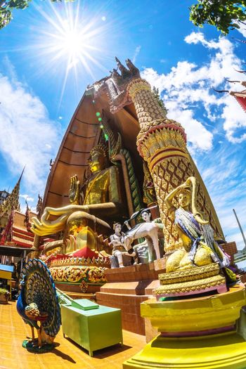 Statue Religion Sculpture Sky Spirituality Low Angle View Sunlight Outdoors Architecture No People Day Backgrounds พระพุทธรูป วัด ความเชื่อ Faith ศรัทธา Wallpapers