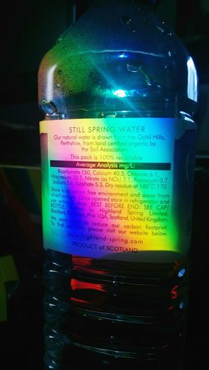 Rainbow on my bottle Rainbow Bottle Hi! Hello World Check This Out