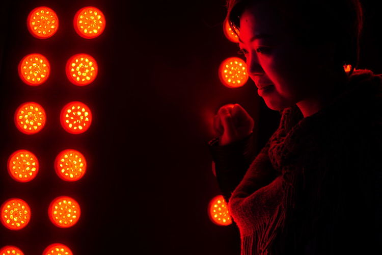 Lights Neon Colored Neon Lights Neon Hong Kong Asian  Asian Girl Not Looking At The Camera Nightlife Side View Night Light - Natural Phenomenon Glowing Dark Indoors  Young Adult Adult Illuminated One Person Red Lifestyles Real People Women Light Portrait Orange Color My Best Photo International Women's Day 2019 The Portraitist - 2019 EyeEm Awards The Street Photographer - 2019 EyeEm Awards