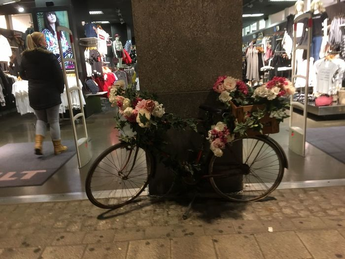 Bycicle Lovers Bycicle Photography Fahrrad Fahrraddeko Flower Retail  Mode Of Transport Transportation Land Vehicle Bicycle Outdoors Flower Shop Store Day Real People Bouquet Architecture Freshness Building Exterior Flower Market Fragility City