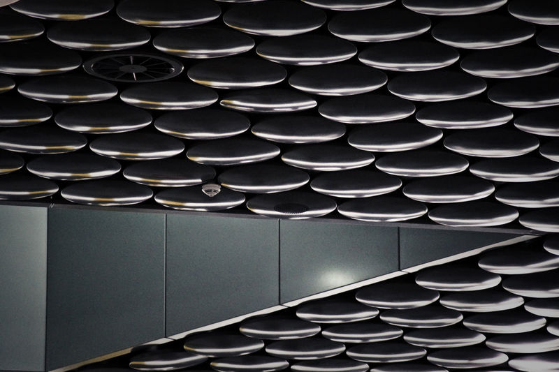 Patterned ceiling in modern airport