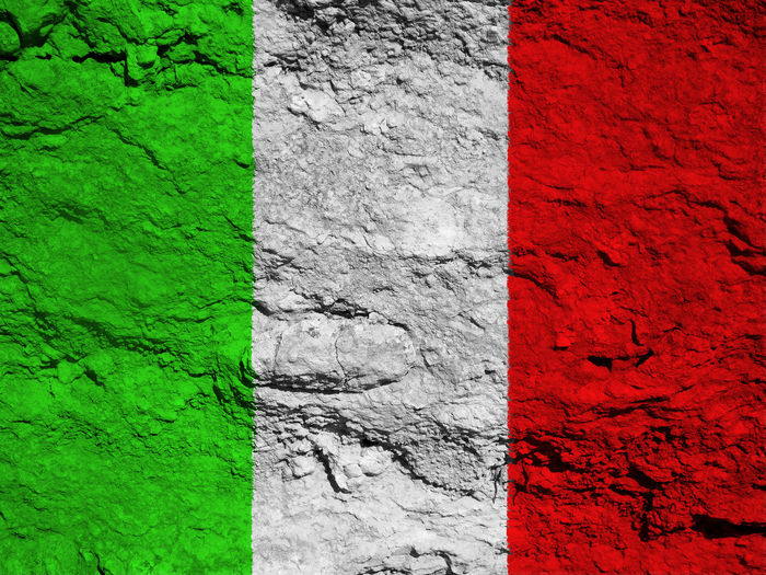 Italian flag Architecture Backgrounds Building Exterior Built Structure Close-up Day Full Frame Green Color Italy Italy Flag Multi Colored Nation No People Outdoors Paint Red Rome Rome Italy State Textured