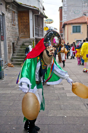 xinzo de limia carnival Xinzo De Limia Architecture Building Exterior Built Structure Carnibal Du Loup City Clown Day Domestic Animals Dragon Full Length Incidental People Mammal Men Mime One Animal One Person Outdoors People Performance Real People Xinzo De Limia Carnival
