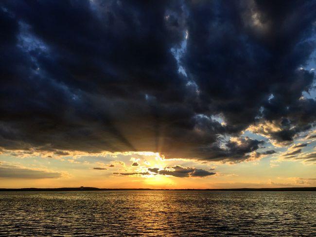 Dramatic sunset Sunset Sky Nature Idyllic Sea Sun Dramatic Sky Colorful Juicy Breathin Charming Minsk Natural Oxygen Harmony MinskSea Belarus