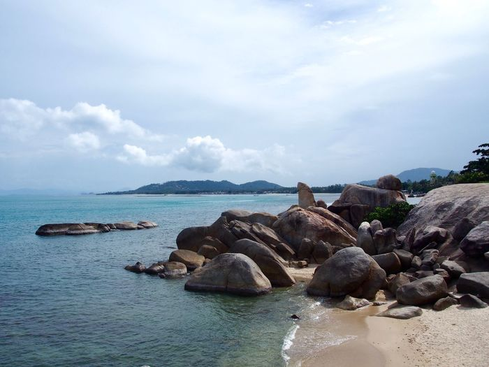 Water Sea Sky Rock Cloud - Sky Scenics - Nature Beauty In Nature Solid Nature Day Beach No People Idyllic Rock Formation