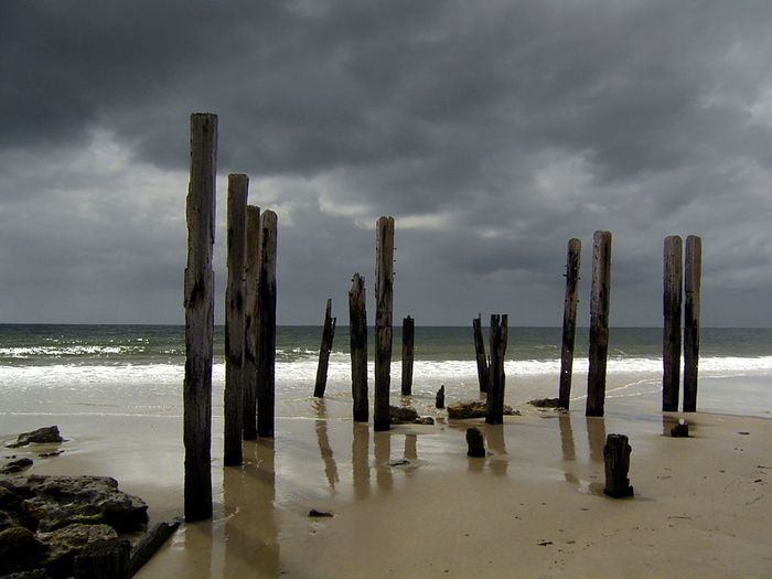 Storm clouds over the ruined jetty on a beach in South Australia Australian Landscape Travel Photography Weather Beach Beauty In Nature Cloud - Sky Day Horizon Over Water Nature No People Outdoors Ruined Pier Scenics Sea Sky Storm Cloud Tranquil Scene Tranquility Water Wooden Post