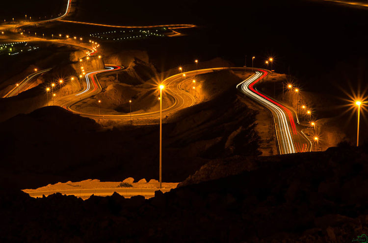 Jebel Hafeet, Al Ain Trailing Lights
