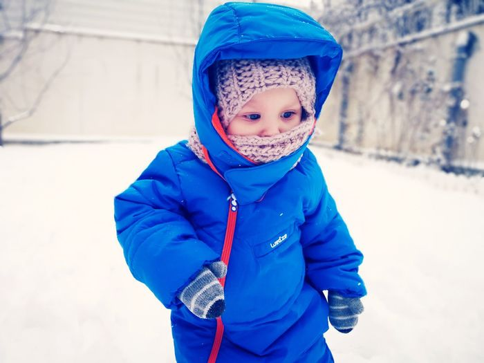 Sport Outfit Shades of Winter Winter Landscape Winter Wonderland Wintertime Kids EyeEm Selects Childhood One Boy Only Children Only Portrait Looking At Camera Child Boys Warm Clothing Cold Temperature Snow Jacket Cute Outdoors Go Higher