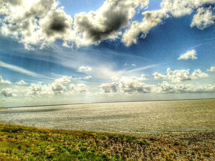 HDR Hdr_Collection Hdr_lovers Hdr Edit Hdr_arts  Cloud - Sky Beauty In Nature Sky Scenics Tranquility Tranquil Scene No People Outdoors Landscape Water Northsea Sunshine About The Northsea Over The Clouds Day Travel Destinations Sea Collection Hdr Photography Horizon Over Water View Of The Sea