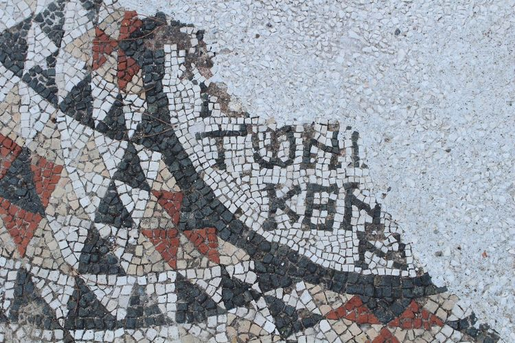 Latin Ruin Historical Heritage Historical Historical Site Mosaic Mosaic Tiles EyeEm Selects Architecture Historical Site Sign EyeEmNewHere Ancient Civilization Ancient City Full Frame Backgrounds Communication Text Close-up The Street Photographer - 2018 EyeEm Awards The Traveler - 2018 EyeEm Awards