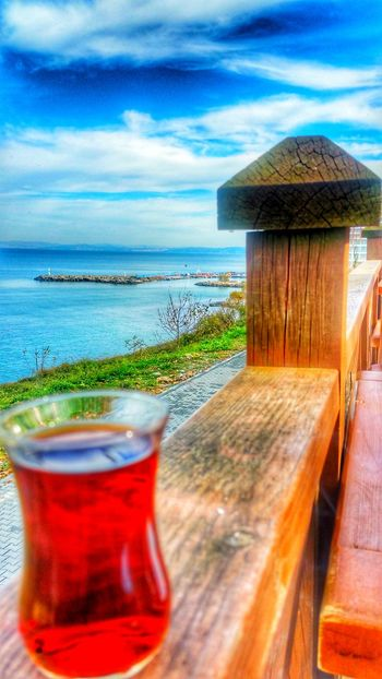 Yine Yeniden çay Aşkı Sea Cloud - Sky Beach Water Tranquility Nature Travel Destinations No People Sky Sand Beauty In Nature Outdoors Drink Horizon Over Water Alcohol Day