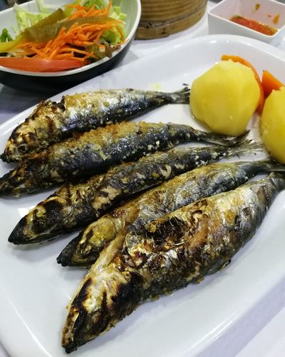 grilled fresh mackerel, Portugal traditional dish. Yummy Meal Cooking Eating Lunch Dinner Soonjourney MyWanderLust Gourmet Healthy Lifestyle Seafood Plate Fish Close-up Food And Drink Serving Dish Cooked