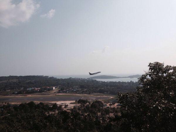 Airplane Airport TakeOff Koh Samui Thailand ASIA Traveling