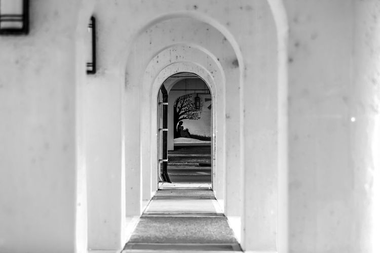 Gazing Down the Corridor Arch Architecture Art Built Structure Close-up Corridor Day Indoors  No People The Way Forward
